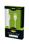 Apple Grixx Optimum 8-pin (Lightning) kabel (nylon, 20cm, wit)  AAP00330