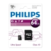 Philips Micro SDXC geheugenkaart class 10 inclusief adapter - 64GB  098148